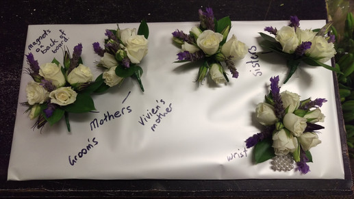 Buttonholes and Corsages, Briar Rose Flowers, Warkworth.