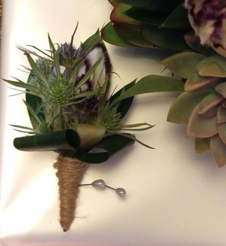 Buttonhole, Briar Rose Flowers, Warkworth.