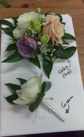 Cake Flowers and Buttonhole, Briar Rose Flowers, Warkworth.