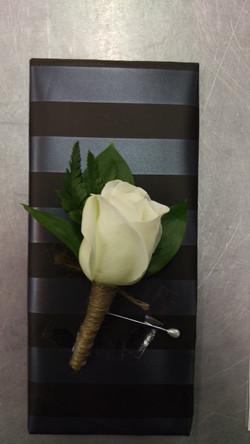 Buttonhole - White Rose