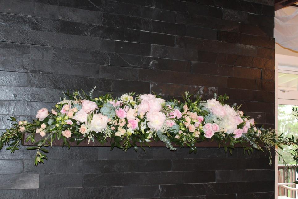 Wedding Flower Garland, Briar Rose Flowers, Warkworth.