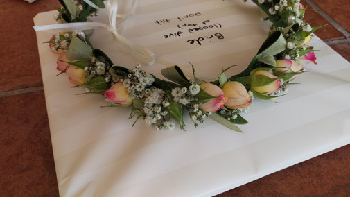 Bride Hair Flowers, Briar Rose Flowers, Warkworth.