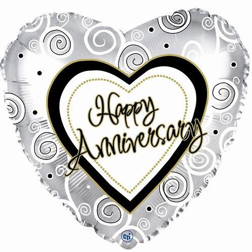 Balloon (Helium) - Anniversary Heart