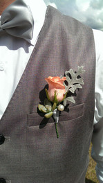 Buttonhole, Briar Rose Flowers, Warkworth.