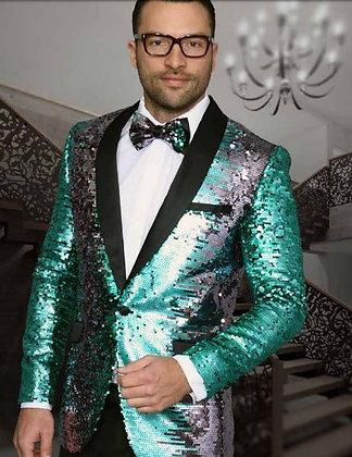Sage/Silver Sequin Jacket