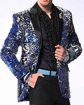 Royal Silver Sequin Jacket