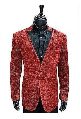 Red Glittering Lurex Sport Coat