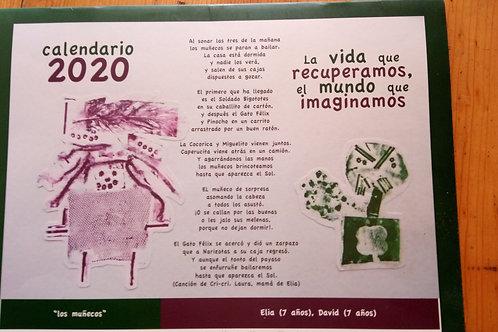 """Calendario 2020 """"La vida que recuperamos, el mundo que imaginamos"""""""