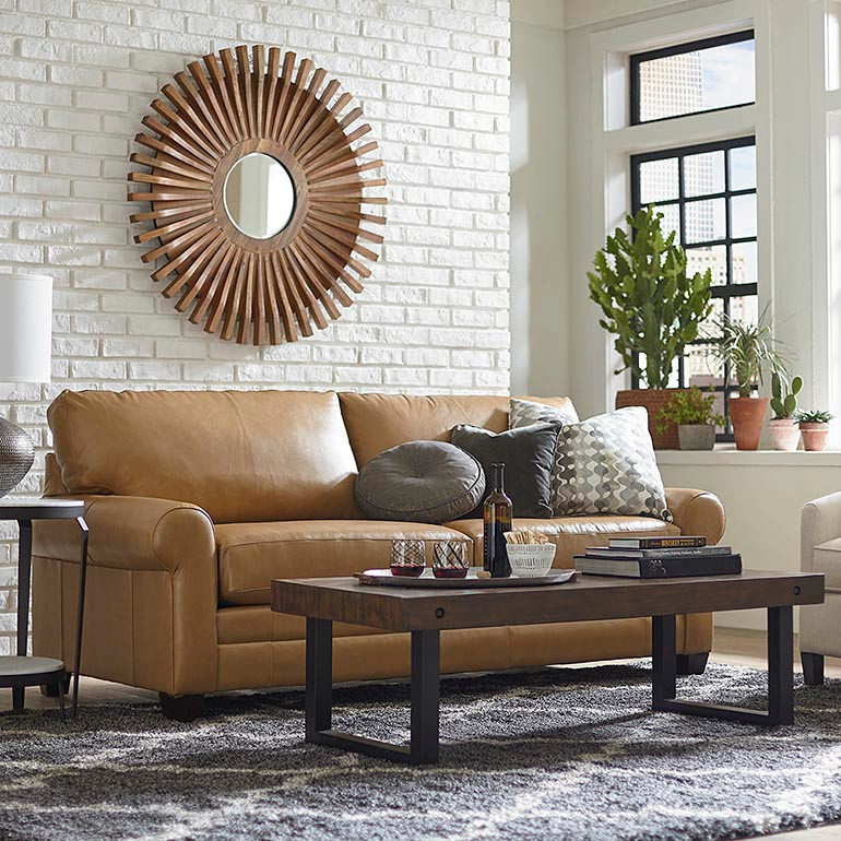 Leather Sofa by Bassett Furniture
