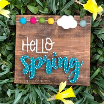 Hello Spring string art