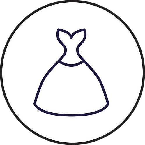Evening gown silk