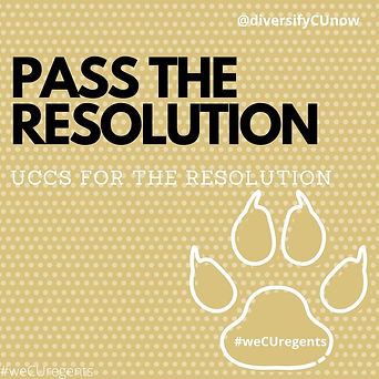 Pass the Resolution University of Colorado Colorado Springs