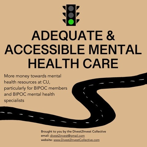 Adequate and Accessible Mental Health Care (continued)
