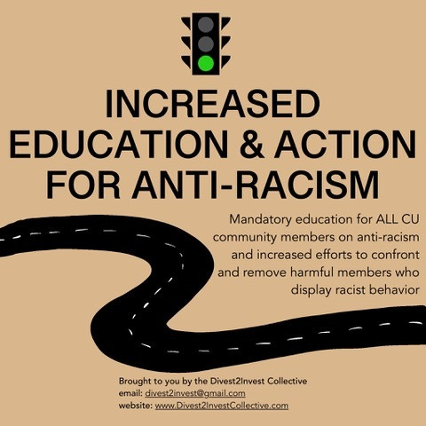 Increased Education and Action for Anti-Racism (continued)