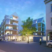 Neubau Volksbankareal Gernsbach