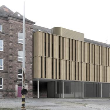 Dragonerkaserne Karlsruhe / Erweiterung und Umbau für das Bad. Konservatorium