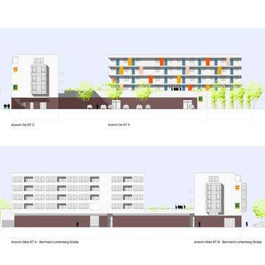 Seniorenzentrum Oberreut Karlsruhe / Neubau eines Pflegeheims mit Ladenzeile