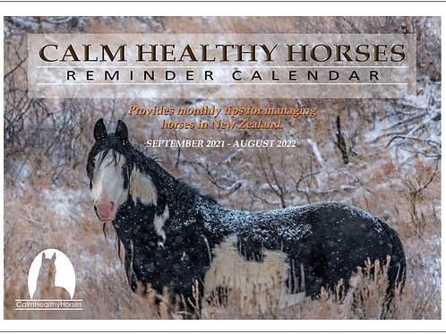 Calm Healthy Horses Reminder Calendar