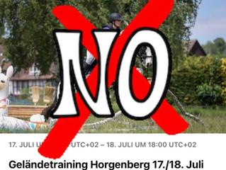 Geländetraining Horgenberg abgesagt