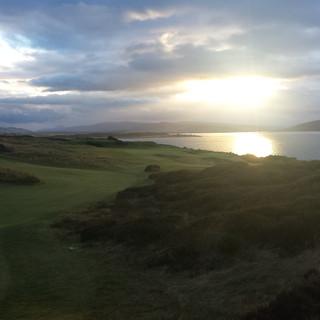Sunset at Castle Stuart