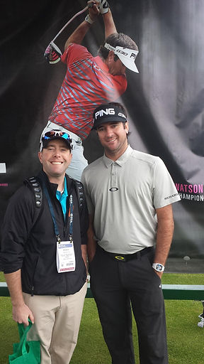 Myself and Bubba Watson at the PGA show in Orlando