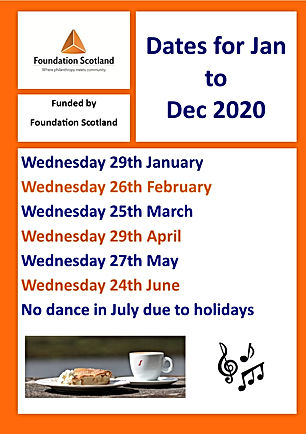 Tea Dance poster - monthly updated page