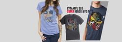 Camisetas e Super Herois