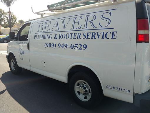 Beavers Plumbing Van