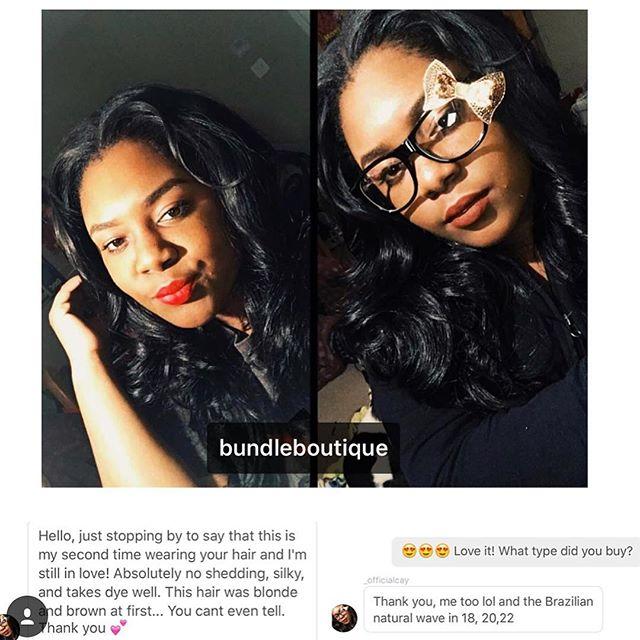 We ❤️ Feedback #clientselfies #selfies #bundleboutique #hair #comments #reviews #hair #pretty #natur