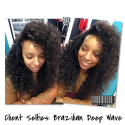 #clientselfies Versatile flip-over sewin (pinned on one side) 😍_Installed by_ _hair_by_elise _Hair