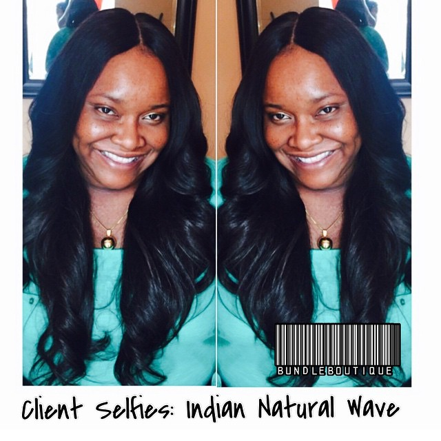Indian Natural Wave + Lace Closure 😍 #hair #rawhair #indianhair #virginhair ##pretty #bundleboutiqu