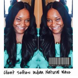 Indian Natural Wave + Lace Closure 😍 #hair #rawhair #indianhair #virginhair ##pretty #bundleboutiqu