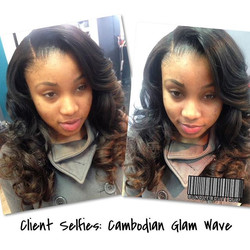 Side Part_Installed by_ _hair_by_elise _Hair provided by_ Us _bundleboutique 😜_#client #selfies #s