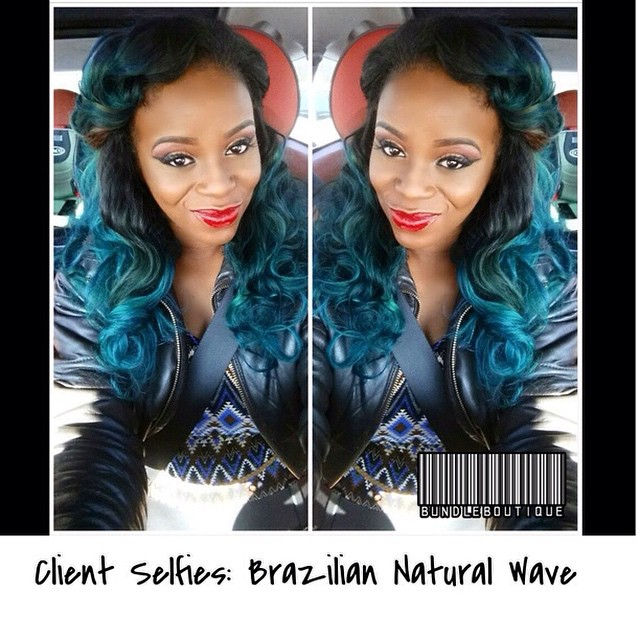 _Client Selfies_ Brazilian Natural Wave #bundledeals #atlhair #cosmetics #bundleboutique #fashion #v