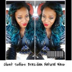 _Client Selfies_ Brazilian Natural Wave #bundledeals #atlhair #cosmetics #bundleboutique #fashion #v