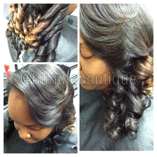 Brazilian deep wave flat ironed and curled 😍 #filterforwhat #brazilianhair #sleek #beautybar #atlha