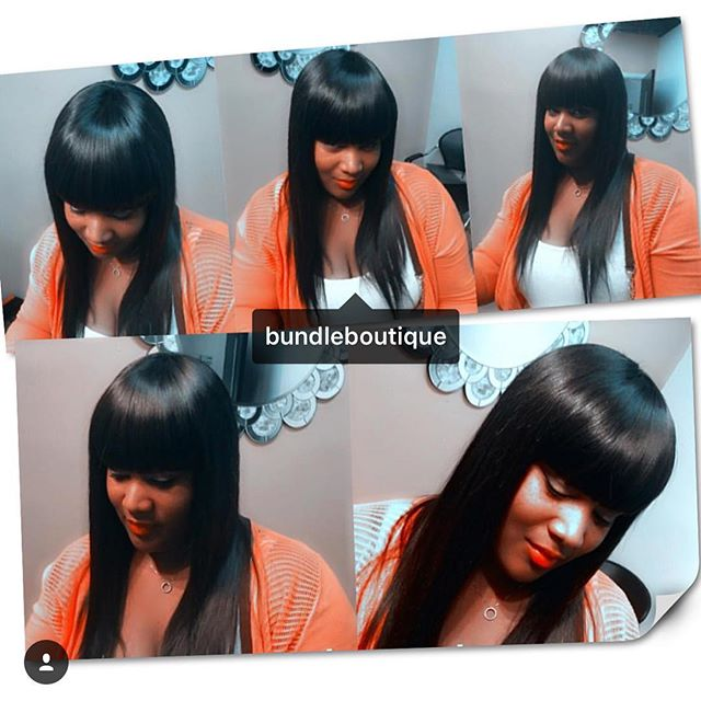 Sleek Sewin 😍 slayed by _hair_by_elise _#bundleboutique #virginhair #straighthair #atlhair #dopesty