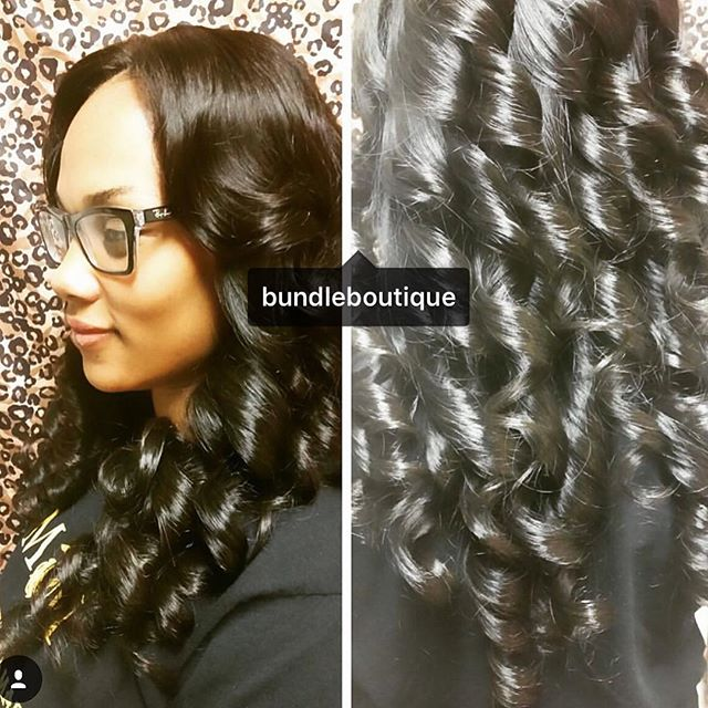 Client Selfies _lchelle_savi _ Raw Cambodian Glam Wave 😍 _Installed by_ _philbeautifu_#bundledeals