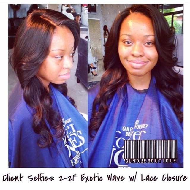 One of Our favorite lace closure installs by _ parismoore _ Signature Hair and closure provided by _