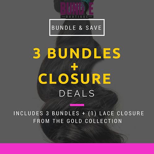 Gold Collection   3 Bundle + Closure Deal