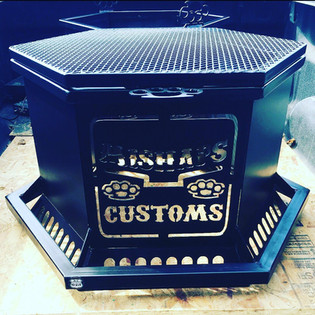 Deluxe Fire Pit with Custom Logo Added