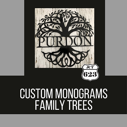 Personalized Family Tree Monograms