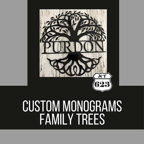 Personalized Family Tree Monograms