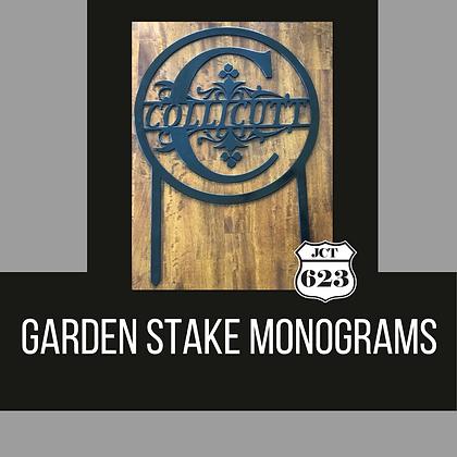 Garden Monogram Signs