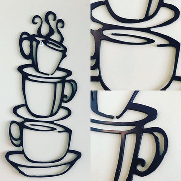 Stacked Coffee Mugs