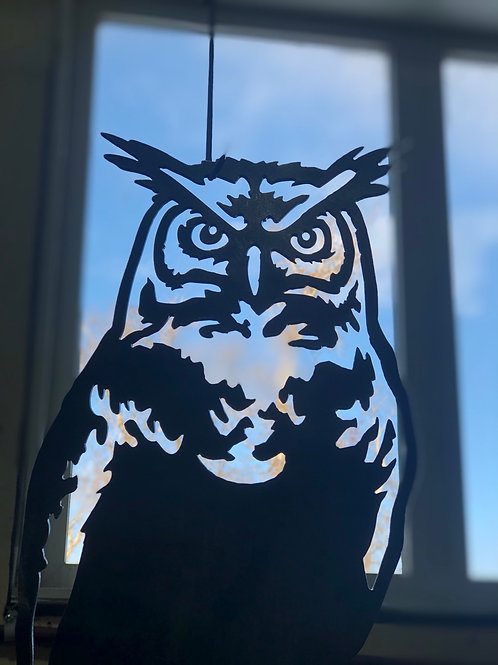 """""""Great Horned Owl"""" Tree Ornament"""