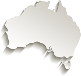 Australia map card paper 3D natural [Con