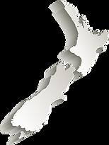 New Zealand map card paper 3D natural [C