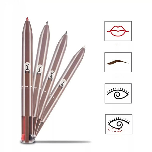 Make-up Pencil, 4 colours, Brow, Liner, Lip, Highlighter