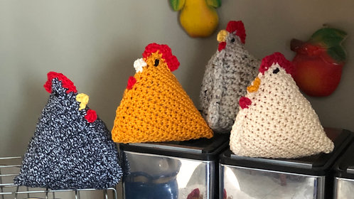 Crocheted Vintage Chickens